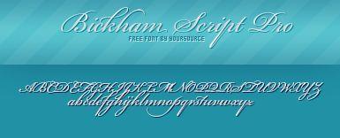 Bickham Script Pro Free Font by YourSource