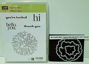 Stampin Up Regarding Dahlias Stamps and Matching Framelits Dies by ...