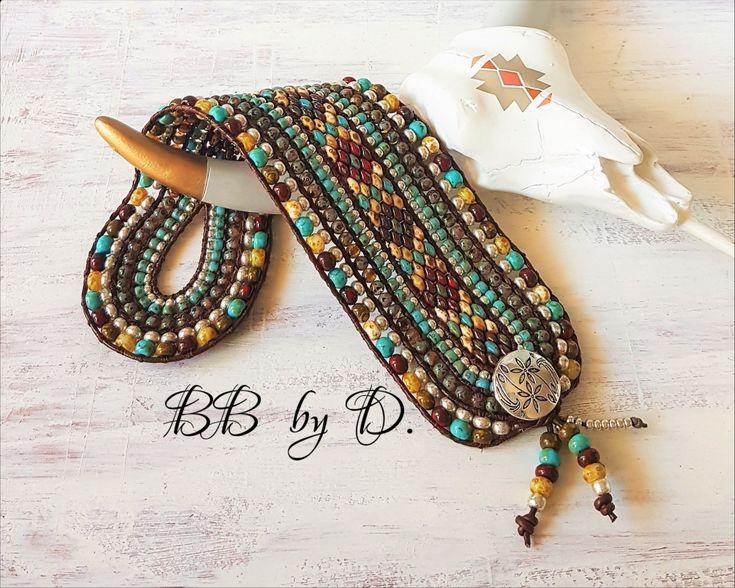 Bracelet Wrap Multi-Rangs en cuir et perles superduos, style bohème chic, Hippi…