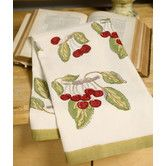Found it at Wayfair - Cherry Red Green Tea Towel (Set of 3)