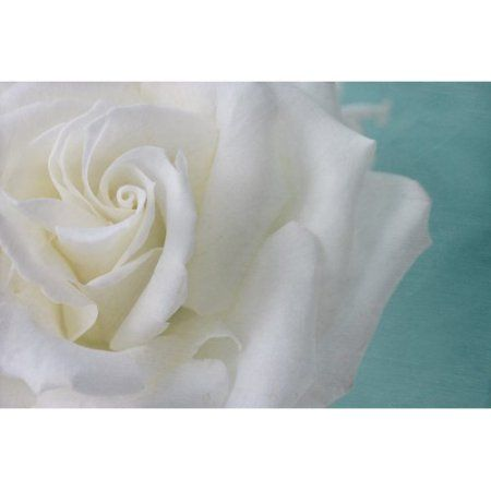 Purity of the White Rose Painting Print on Wrapped Canvas, Beige