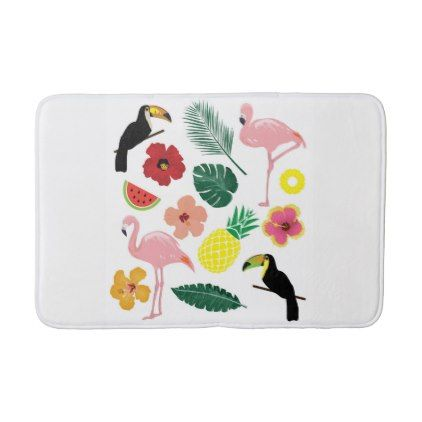 #Tropical Bath Mat - #Bathroom #Accessories #home #living