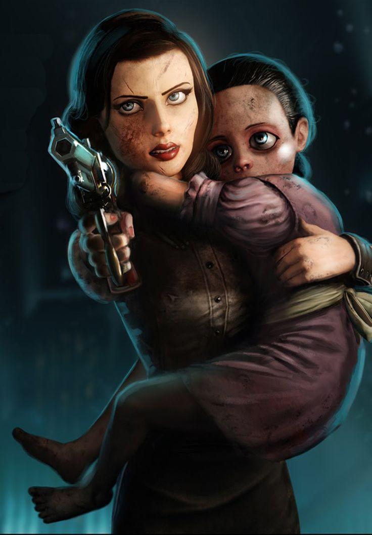 Elizabeth & little sister - Bioshock Infinite / Burial at Sea