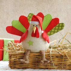 Turkey Softie Pattern | YouCanMakeThis.com