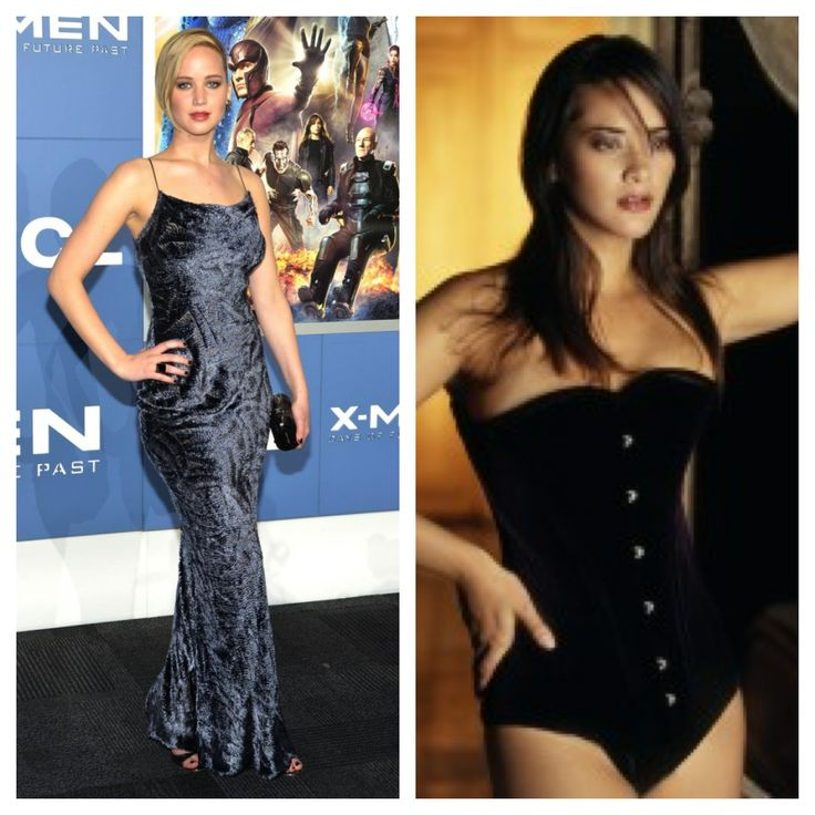 Achieve Jennifer Lawrence's velvet look with Vollers Daydream corset in velvet! Available at: http://www.vollers-corsets.com/daydream.html