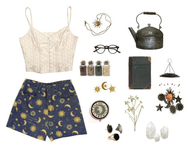 """""""magic"""" by plantskid ❤ liked on Polyvore featuring Anne Klein, Williams-Sonoma, Pier 1 Imports, vintage, retro, witch and witchy"""