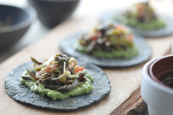 Introducing our February special Taco de Charales.  Featuring crispy anchovies, cactus slaw, chile morito tomatillo & guacamole on a fresh, hand-pressed blue corn tortilla. Try it today: LUNCH 11A-2P Ambry Genetics, 15 Argonaut #AlisoViejo CA. More info: SOHOTACO.com