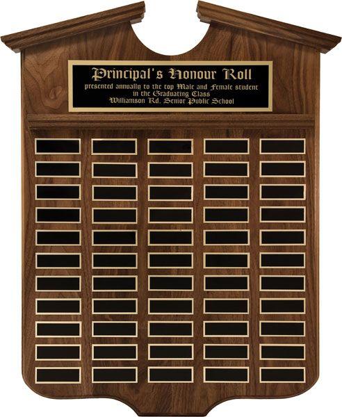 Grant Annual Shield Plaque