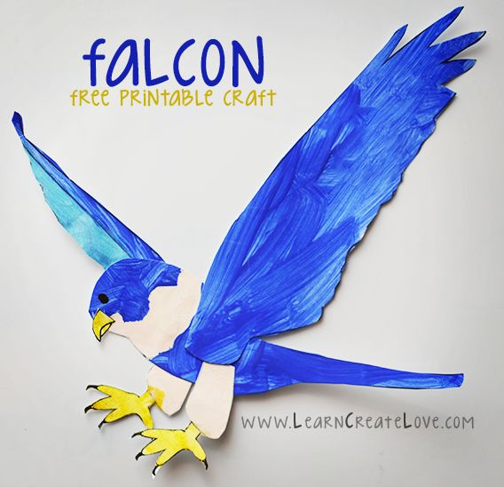 Printable Falcon Craft from LearnCreateLove.com