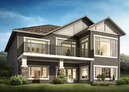 Plan 81621AB. I love the back elevation of this Craftsman bungalow inspired 2 bedroom house plan. Plan Link: http://www.architecturaldesigns.com/house-plan-81621AB.asp