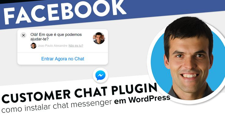 Como instalar o Customer Chat Plugin do Facebook no seu site WordPress. https://joaoalexandre.com/blogue/customer-chat-plugin-messenger-wordpress/