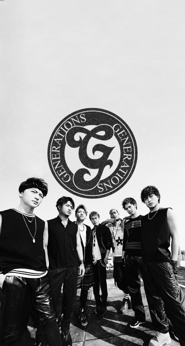 GENERATIONSモノクロ渋め iPhone壁紙 Wallpaper Backgrounds iPhone6/6S and Plus  GENERATIONS from EXILE TRIBE 白濱亜嵐 片寄涼太 数原龍友 小森隼 佐野玲於 関口メンディー 中務裕太