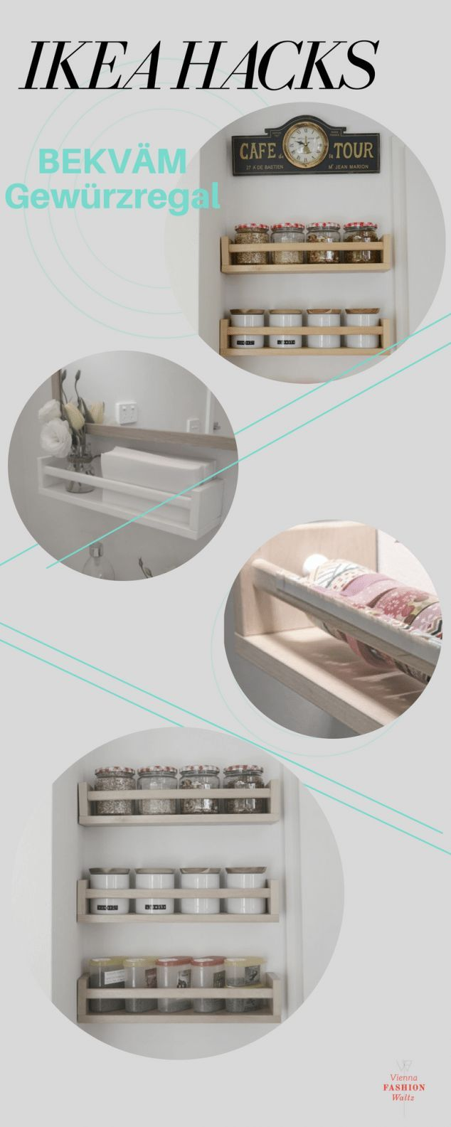 DIY Upcycling – BEKVÄM Gewürzregal [Ikea Hackers + weitere