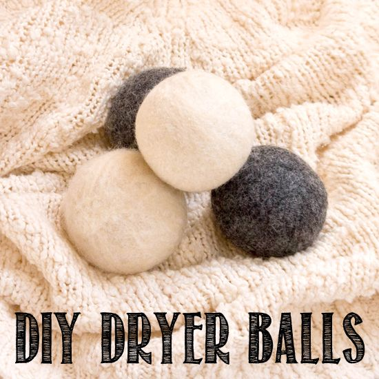 DIY dryer balls will cut down on drying time and soften laundry at the same time.