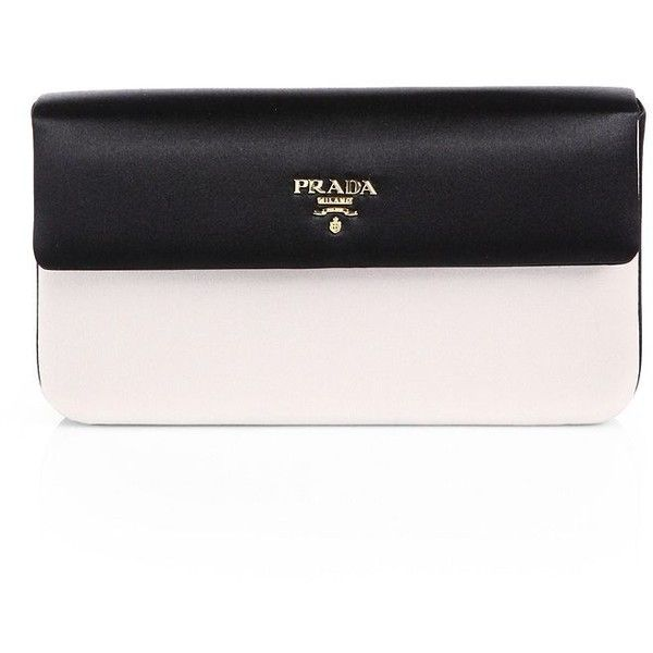 Prada Raso Bicolor Satin Box Clutch (1.420 BRL) ❤ liked on Polyvore featuring bags, handbags, clutches, purses, bolsas, prada, hand bags, satin purse, handbag purse and satin clutches