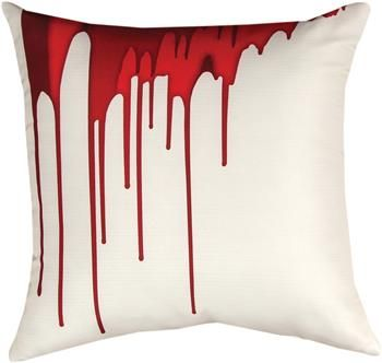 """SLSRDR 18"""" x 18"""" Shades of Red Drips Pillow                                                        contemporary"""