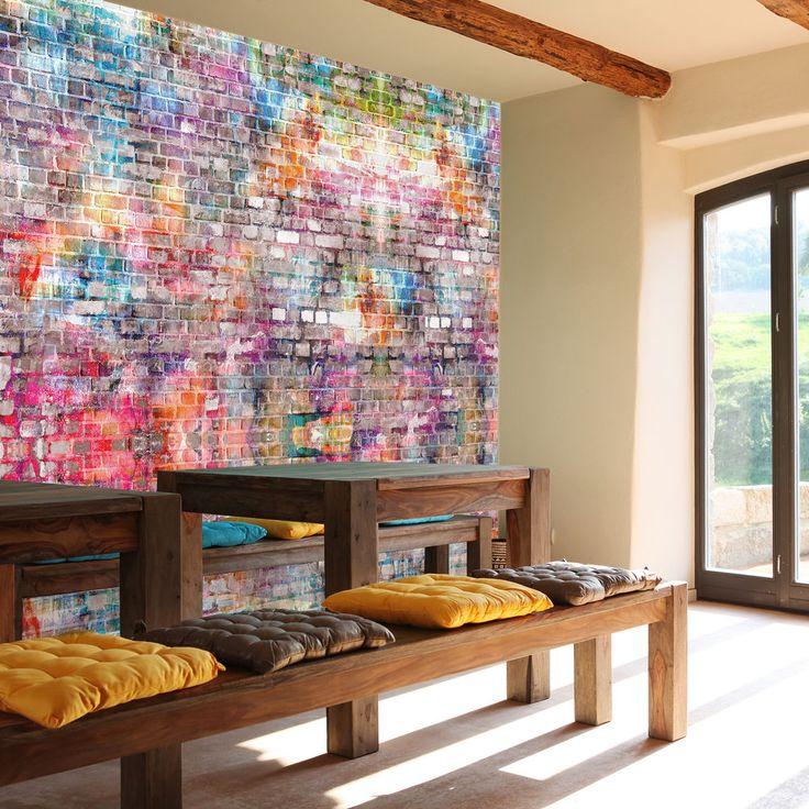 Die besten 25+ Fototapete steinwand Ideen auf Pinterest - wohnzimmer mit steinwand