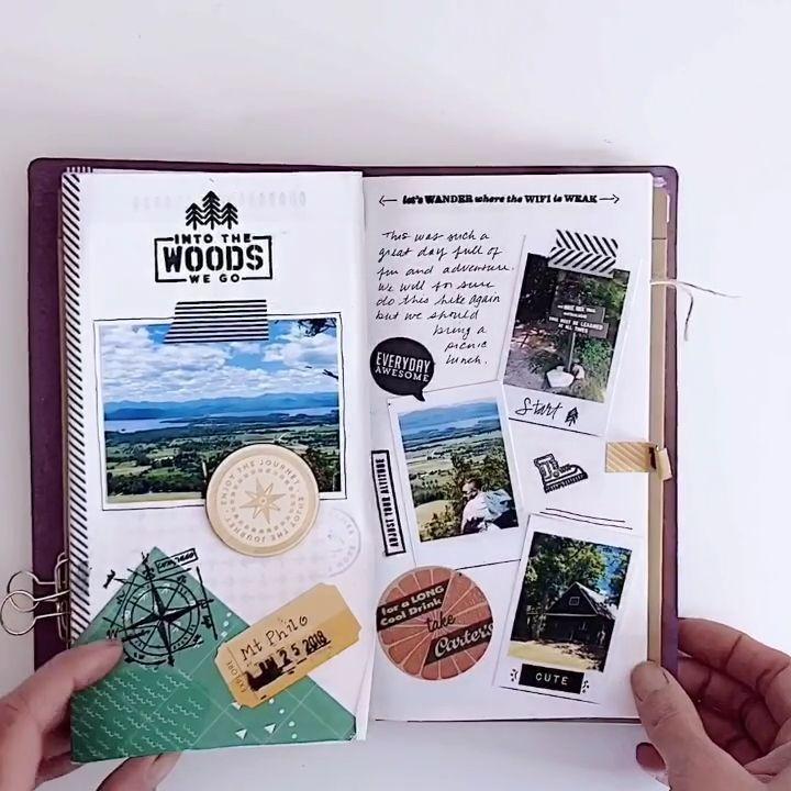 awesome Dieses Video ist ein Durchblättern des Journals eines Reisenden. Die Website von