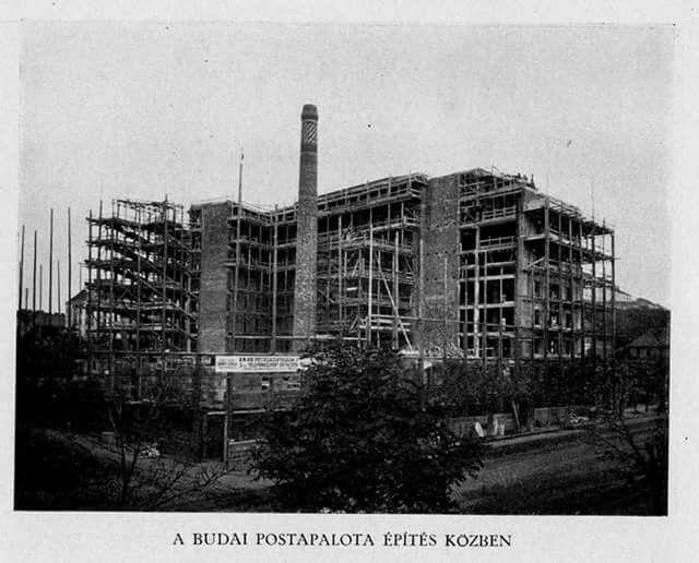 1926 Budapest, postapalota építése