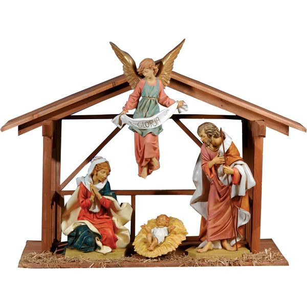 "Part of the Fontanini Masterpiece series, this gorgeous Nativity set is a 27"" scale and is good for indoor or outdoor use. Other figures and sizes available!"