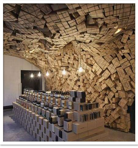 boxes wall paper structure