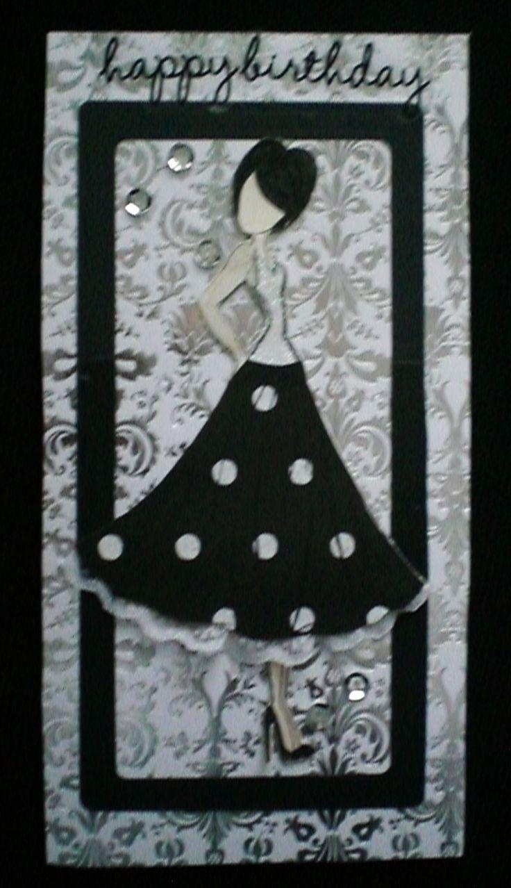 black, white & silver fbk-kayskards
