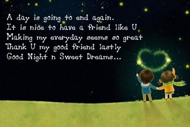 its nice to have a friend like u-Good Night Images with Quotes for Friends