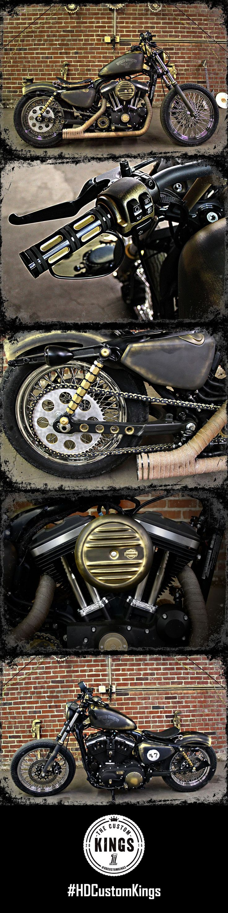 "Valley Harley-Davidson took a stock 2016 Iron 883 and transformed it into ""Bad Azz Brass"", a black and bronze bobber with old school style and modern performance. 