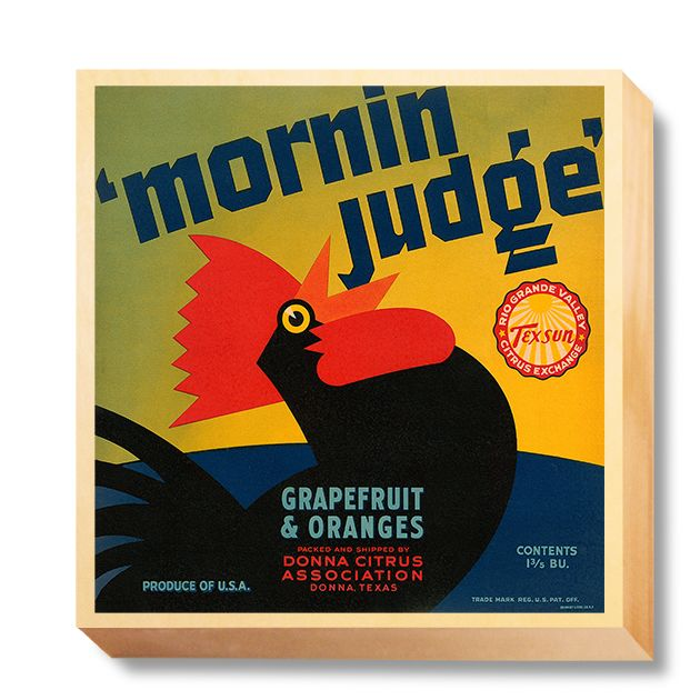 LAB 053 Crate Label Mornin' Judge Grapefruit and Oranges