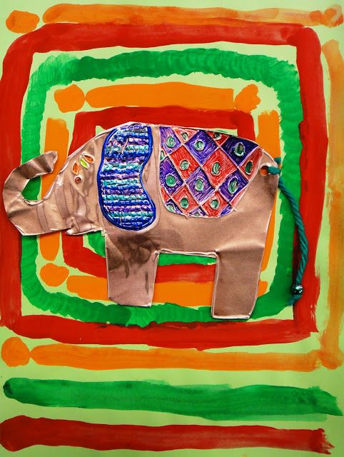THAILAND -- For the Love of Art: 3rd Grade: Thai Elephants  ALL AGES