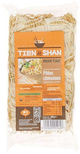 Tien Shan Pâtes Chinoises 250 g: Ses nouilles qui accompagneront parfaitement vos plats Les pâtes blé tendre sont savoureuses Farine de blé…