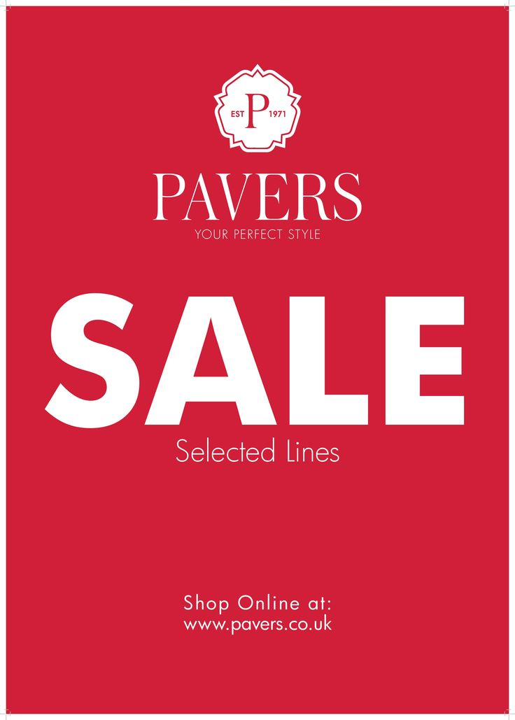 Pavers sale now on at Whitewater Shopping Centre