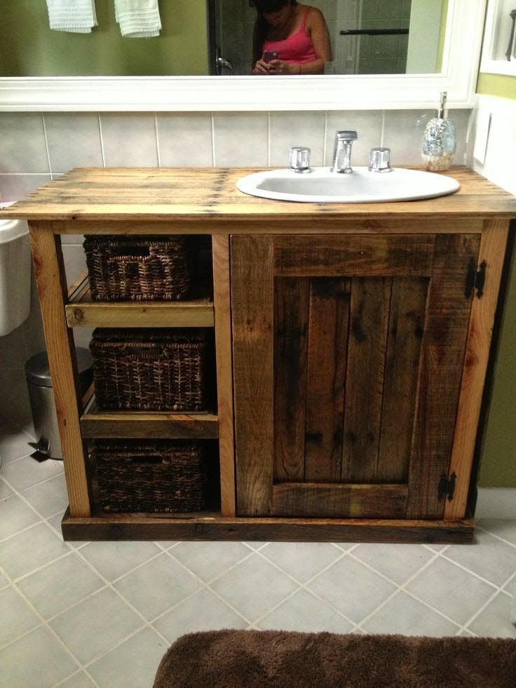 25 best ideas about diy bathroom vanity on pinterest for Pallet bathroom ideas
