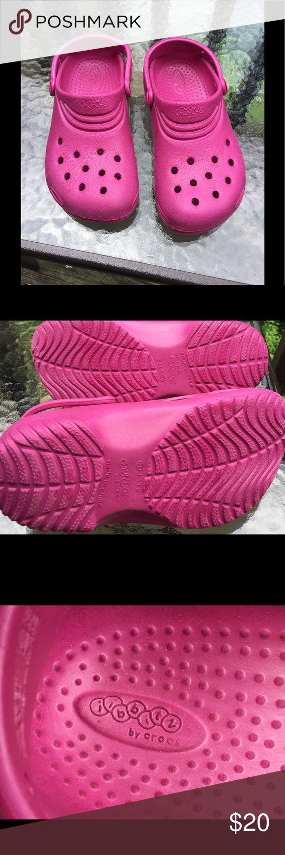 Girls Pink Crocs Size XL Jibbitz by Crocs. Excellent condition. CROCS Shoes Water Shoes