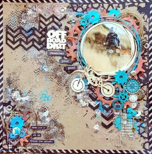 Layout published in Scrapbooking Memories Magazine