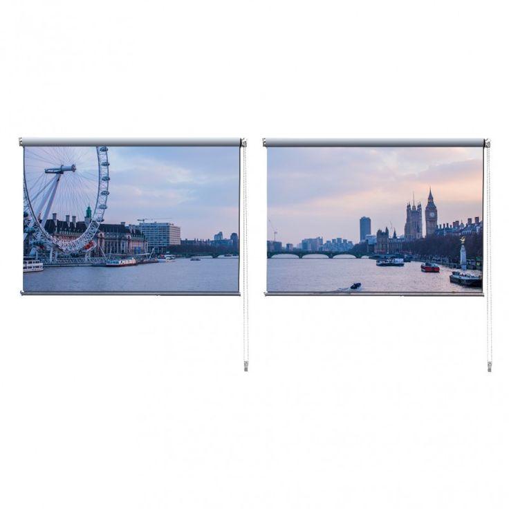 Duo rolgordijn Londen | De duo rolgordijnen van YouPri zijn iets heel bijzonders! Maak keuze uit een verduisterend of een lichtdoorlatend rolgordijn. Inclusief ophangmechanisme voor wand of plafond! #rolgordijn #gordijn #lichtdoorlatend #verduisterend #goedkoop #voordelig #polyester #duo #twee #londen #london #engeland #engels #grootbrittannie #verenigdkoningkrijk #rivier #paars #brexit