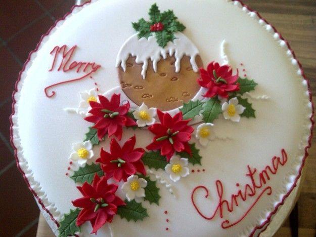 Natal decorações bolos pasta de açúcar