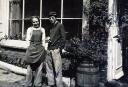 Photograph of Lucie Rie and Hans Coper.