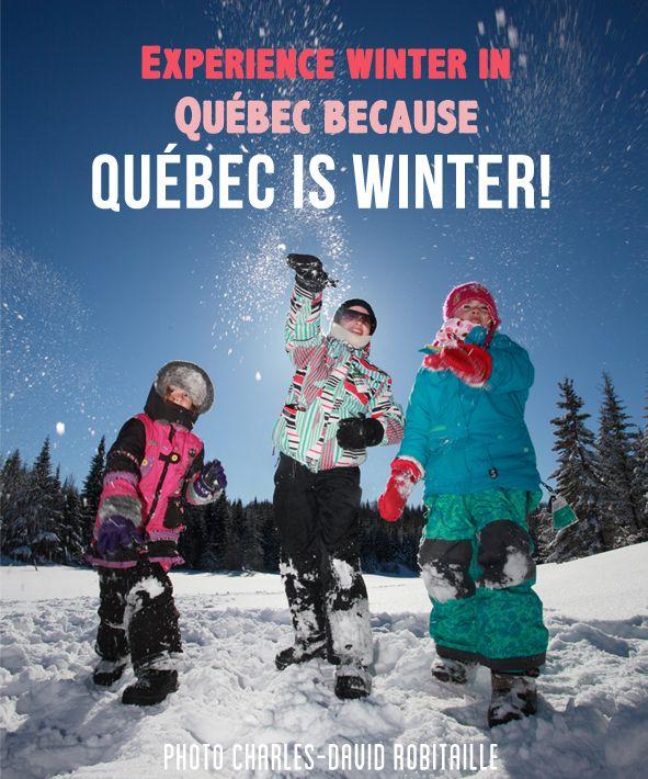 Reason 31 : Experience winter Quebec because Quebec is winter! #winter #175reasons #QcOriginal