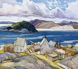 Jackfish Village by Franklin Carmichael