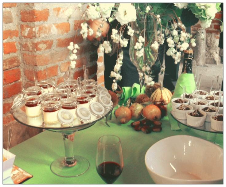 Panna cotta ai frutti di bosco e mousse di cioccolato