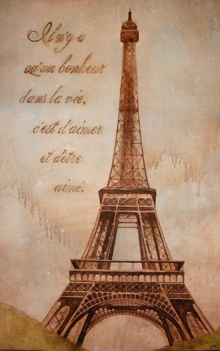 eiffel tower painting | Eiffel Tower | Pinterest | To be ...