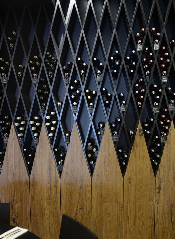 Wine Rack Idea - This restaurant in Malta has a floor-to-ceiling, wall-to-wall wine library.