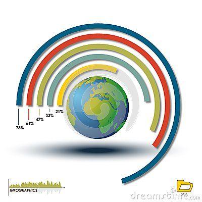 World Infographic Histogram, Chart Graphics