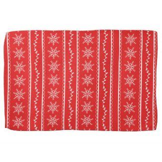 Snowflakes and Vines Designer Tea Towel