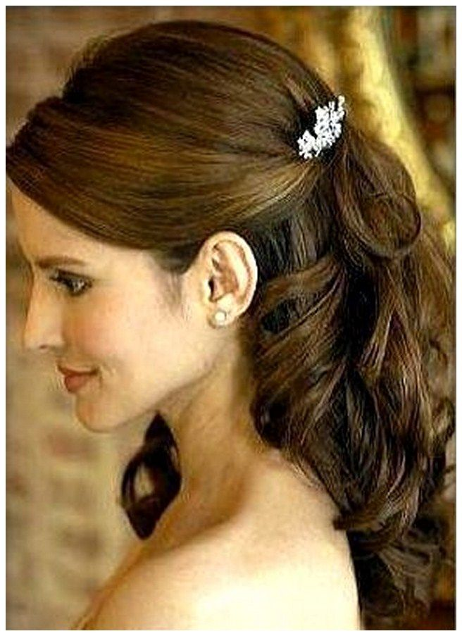 wedding hairstyles with veil half up half down - Google Search