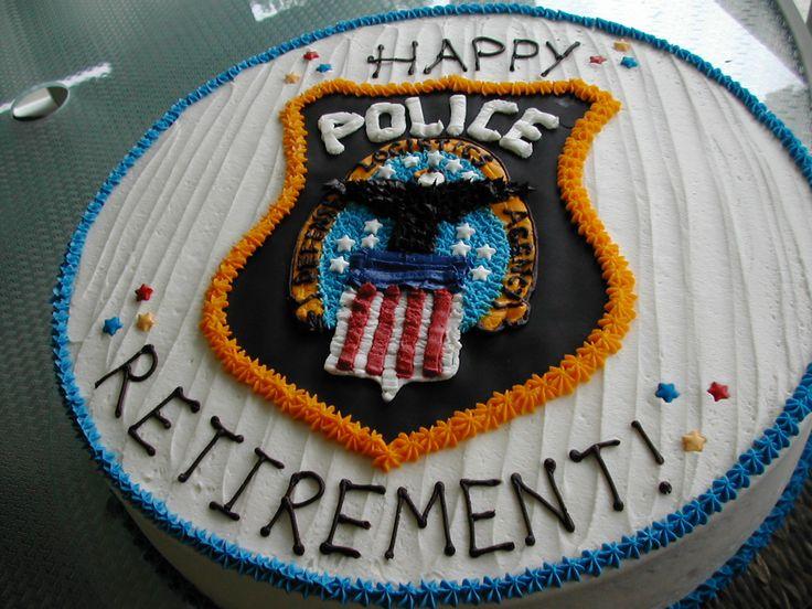 police retirement cakes