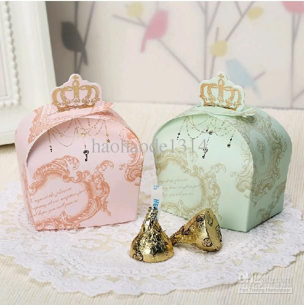 Wholesale Crown Favor Wedding Candy Boxes party gifts packing paper chocolate package, Free shipping, $26.0/Piece | DHgate