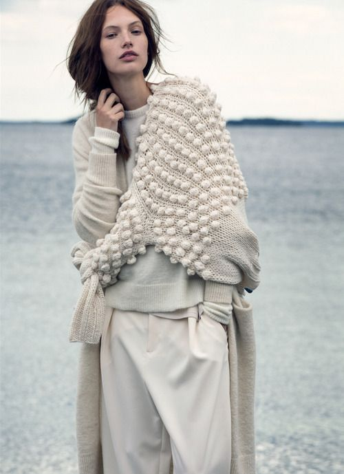 Layering knitwear all in cream the dream! #winter #fashion #editorial