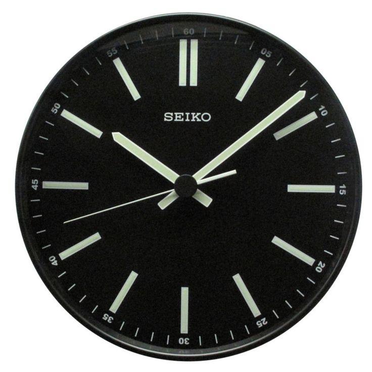 Seiko Contemporary Black Clock - 11.5 diam. In. - QXA521JLH